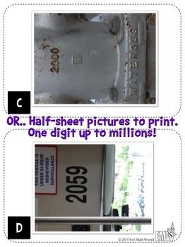 Numbers Around Us Photo Task Cards