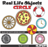 Real Life Objects 2D Shape Circle Line Art ClipArt