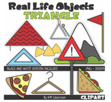Real Life Objects 2D Shape Triangle Line Art ClipArt