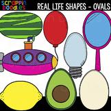 Real Life Oval Shapes Clipart {Scrappin Doodles Clip Art}