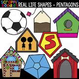 Real Life Pentagon Shapes Clipart {Scrappin Doodles Clip Art}