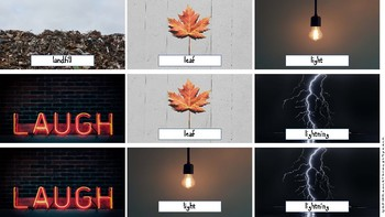 Real Life Photo Cards - L and L Blends for Articulation and Language