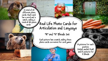 Real Life Photo Cards - R and R Blends for Articulation and Language
