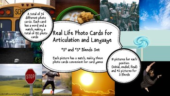 Real Life Photo Cards - S and S Blends for Articulation and Language