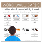 Real Life Photo Word Wall Headers & Word Wall Cards for Over 300 Sight Words!