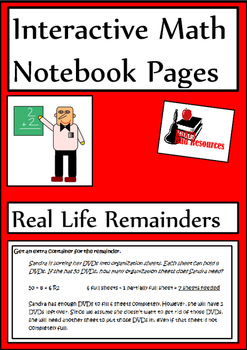 Real Life Remainders Lesson for Interactive Math Notebooks