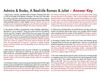 Real-Life Romeo & Juliet, FREE Common Core-Aligned Non-Fiction Lesson