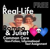 Real-Life Romeo & Juliet, FREE Common Core-Aligned Non-Fic