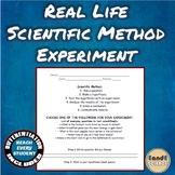 Real Life Scientific Method Experiment