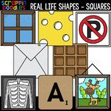 Real Life Square Shapes Clipart {Scrappin Doodles Clip Art}