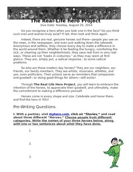 Real Life Superhero Project