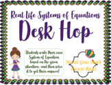Real Life Systems of Equations Desk Hop