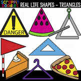 Real Life Triangle Shapes Clipart {Scrappin Doodles Clip Art}