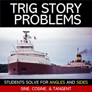 Trigonometry Story Problems Worksheet