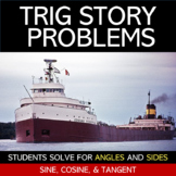 Real-Life Trigonometry Story Problems Worksheet