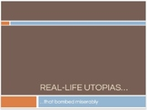 Real Life Utopias - Great pre-reading activity for The Giver and other novels