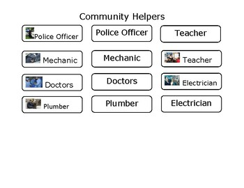Real Life Vocabulary-Community Helpers
