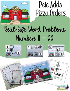 Real-Life Word Problems  Pete Adds Pizza Orders 11 - 20