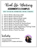 Real Life Writing Lessons, Templates, Assignments & Rubric