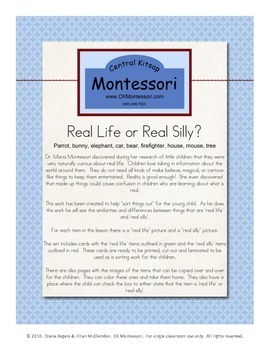 'Real Life' vs 'Real Silly' Sorting Work