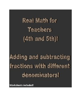 Real Math for 4th and 5th Grade Teachers.