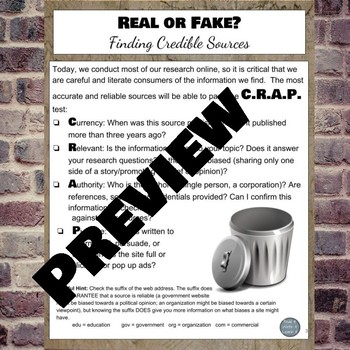 Real News vs. Fake News: Evaluating Online Sources Webquest and Game