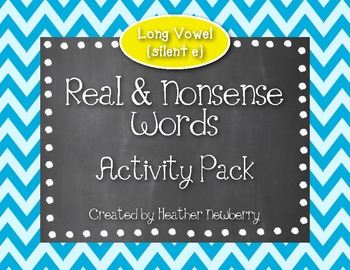Real & Nonsense Words Activity Pack: Silent e Words
