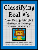 Real Number Classification: Color Sheet and Sorting Activity