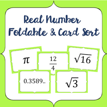 Real Number Classification Sort and Foldable