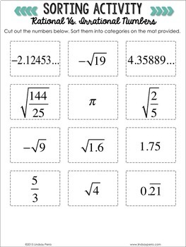 Real Number Exploration Activities