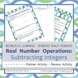 Subtracting Integers Partner Activity