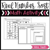 Real Number Sort Activity