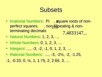 Real Number System PPT Notes