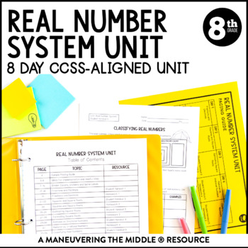 8th Grade Real Number System Unit 8ns1 8ns2 82 Tpt