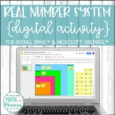 Real Number System Classification DIGITAL Card Sort Activity for Google Drive™