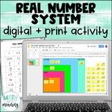 Real Number System Classification DIGITAL Card Sort for Go