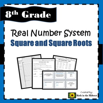 8.EE.2 Real Number System - Square and Square Roots