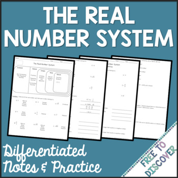 Real Number System Differentiated Notes and Practice