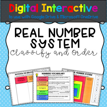 Real Number System Digital Activity