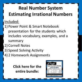 8.NS.2 Real Number System - Estimating Irrational Numbers