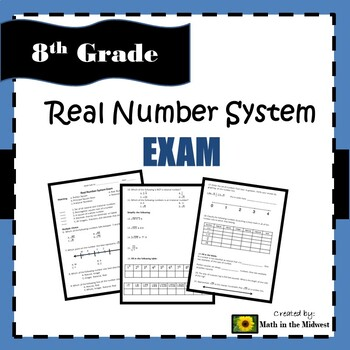 8.NS.1, 8.NS.2, 8.EE.2 Real Number System - Exam