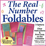 Real Number System FOLDABLES for Interactive Notebooks and