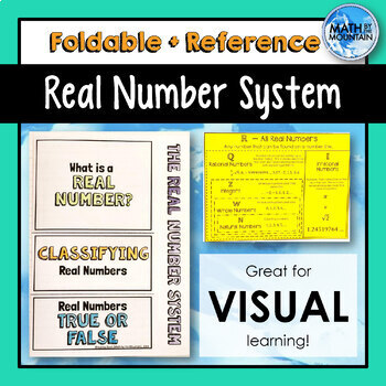 Real Number System FOLDABLE and REFERENCE SHEET - Classifying Real Numbers