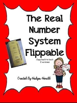 Real Number System Flippable