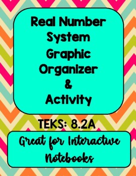Real Number System Graphic Organizer & Activity