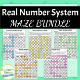 Real Number System Identification Maze Bundle