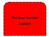 Real Number System Interactive Notebook Foldable