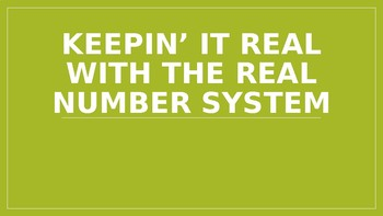Real Number System PowerPoint