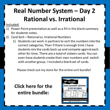8.NS.A.1 Real Number System - Rational vs. Irrational