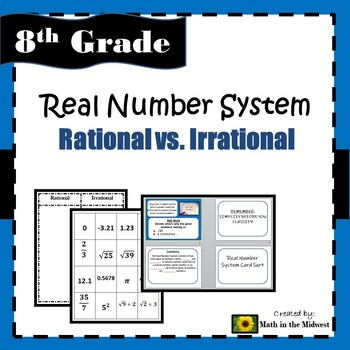 8.NS.1 Real Number System - Rational vs. Irrational